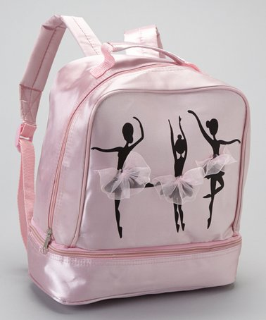 Pink Ballerina Satin Backpack