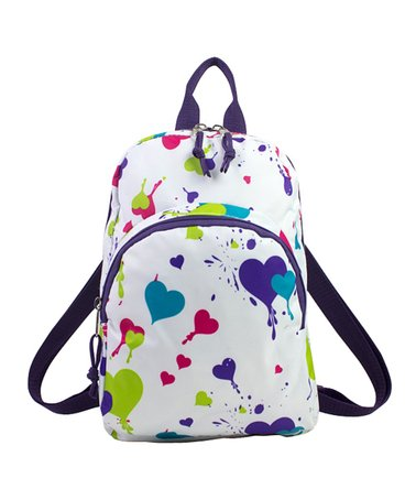 Heart Splatter Mini Backpack