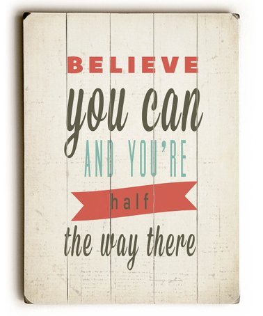 'Believe You Can' Wood Wall Art