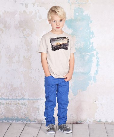 Gray 'Drive Into the Sunset' Tee & Pants - Toddler & Boys