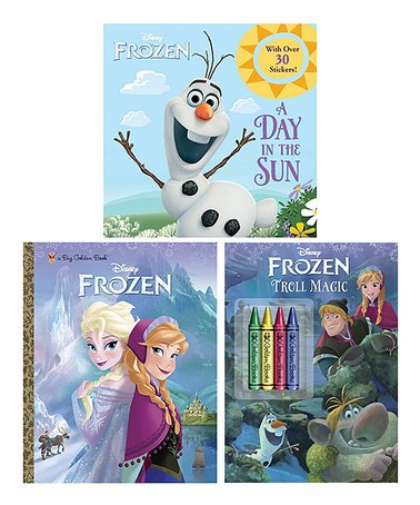 Frozen Color & Read Book Set