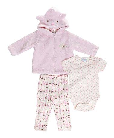 Pink Bear Jacket Set