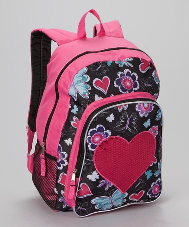 Sequin Heart Backpack